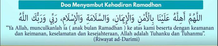 Doa Menyambut Kehadiran Ramadhan