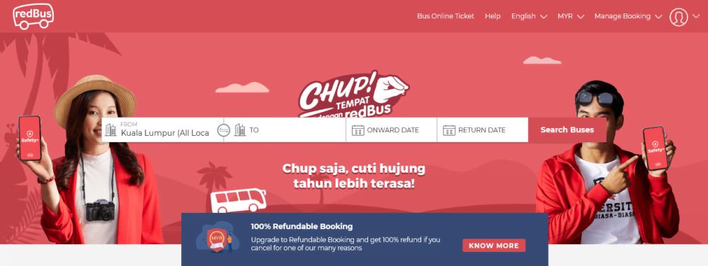 Cara Beli Tiket Bas Online Redbus