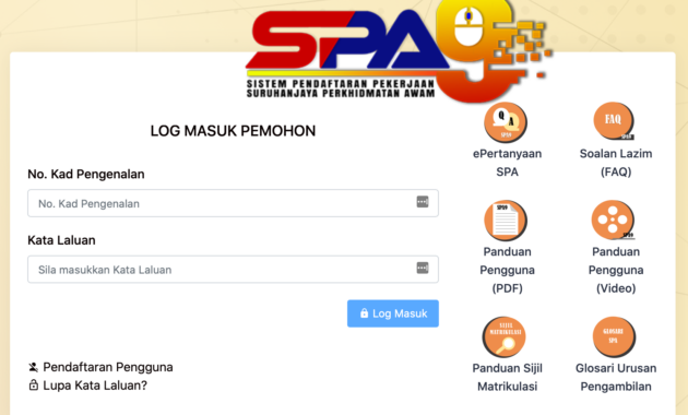 SPA Login 2020 Online